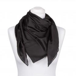 Seidentuch schwarz 100% reine Seide 90x90cm einfarbig