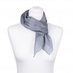 Seidentuch grau silber 100% reine Seide 90x90cm