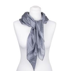 Seidentuch grau silber 100% reine Seide 90x90cm einfarbig