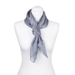 Seidentuch grau silber 100% reine Seide 90x90cm uni einfarbig