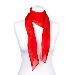 Seidentuch rot feuerrot, 100% reine Seide, 90x90cm einfarbig