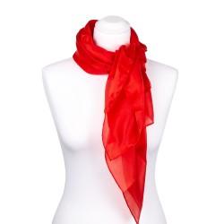 Seidentuch rot feuerrot, 100% reine Seide, 90x90cm uni einfarbig