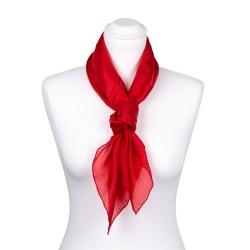 Seidentuch rot tiefrot 100% reine Seide 90x90cm Damen einfarbig