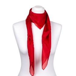Seidentuch rot tiefrot 100% reine Seide 90x90cm einfarbig