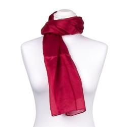 Seidentuch rot weinrot dunkelrot 100% reine Seide 90x90cm einfarbig