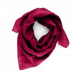 Seidentuch rot weinrot dunkelrot 100% reine Seide 90x90cm uni einfarbig