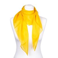 Seidentuch indisch gelb 100% reine Seide 90x90cm Damen
