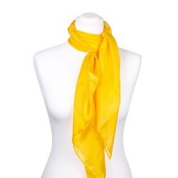 Seidentuch indisch gelb 100% reine Seide 90x90cm Damen einfarbig