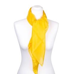 Seidentuch indisch gelb 100% reine Seide 90x90cm uni einfarbig
