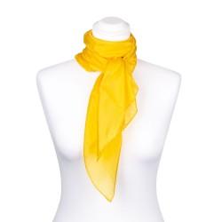 Seidentuch indisch gelb 100% reine Seide 90x90cm einfarben