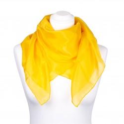 Seidentuch indisch gelb 100% reine Seide 90x90cm einfarbig