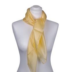 Seidentuch Pastellgelb Gelb 100% reine Seide 90x90 cm Damen einfarbig