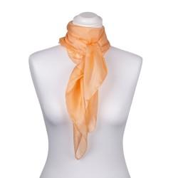 Seidentuch apricot aprikose orange 100% reine Seide 90x90cm uni einfarbig