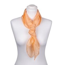 Seidentuch apricot aprikose orange 100% reine Seide 90x90cm einfarbig