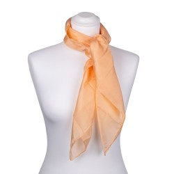 Seidentuch apricot aprikose orange 100% reine Seide 90x90cm unifarben