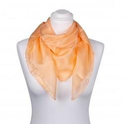 Seidentuch apricot aprikose orange 100% reine Seide 90x90cm Damen