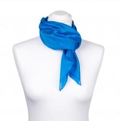 Seidentuch blau brillantblau Damen 100% reine Seide 90x90cm