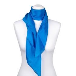 Seidentuch blau brillantblau 100% reine Seide 90x90cm uni