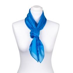 Seidentuch blau brillantblau 100% reine Seide 90x90cm einfarbig