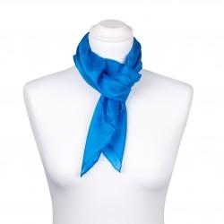 Seidentuch blau brillantblau 100% reine Seide 90x90cm uni einfarbig