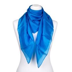 Seidentuch blau brillantblau 100% reine Seide 90x90cm Damen