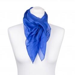 Seidentuch Royalblau Blau Dunkelblau 100% reine Seide 90x90cm Damen