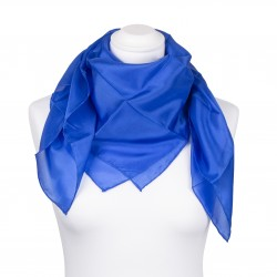 Seidentuch Royalblau Blau Dunkelblau 100% reine Seide 90x90cm uni einfarbig