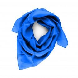 Seidentuch 90x90 cm Royalblau einfarbig unifarben reine Seide Damen