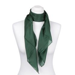 Seidentuch Waldgrün Dunkelgrün 100% reine Seide 90x90cm Damen