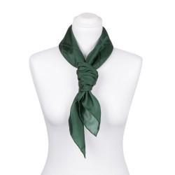 Seidentuch Waldgrün Dunkelgrün 100% reine Seide 90x90cm einfarbig