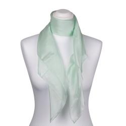 Seidentuch Mintgrün Pastell 100% reine Seide 90x90cm uni einfarbig
