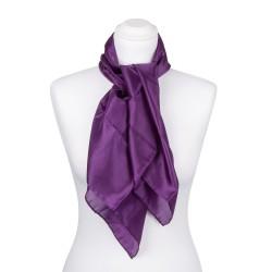 Seidentuch violett lila 100% reine Seide 90x90cm Damen