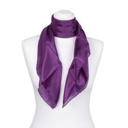 Seidentuch violett lila 100% reine Seide 90x90cm