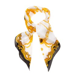TINITEX Nickituch Halstuch Ornamente schwarz gold