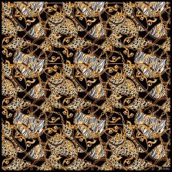 TINITEX Nickituch Halstuch Safari schwarz gold