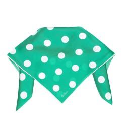 Nickituch Halstuch grün gepunktet