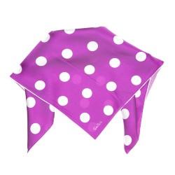 Nickituch Halstuch violett gepunktet