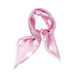 Nickituch Halstuch rosa gepunktet