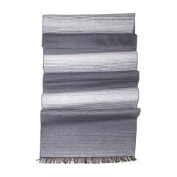 Winterschal Seidenflanell Farbverlauf schwarz grau