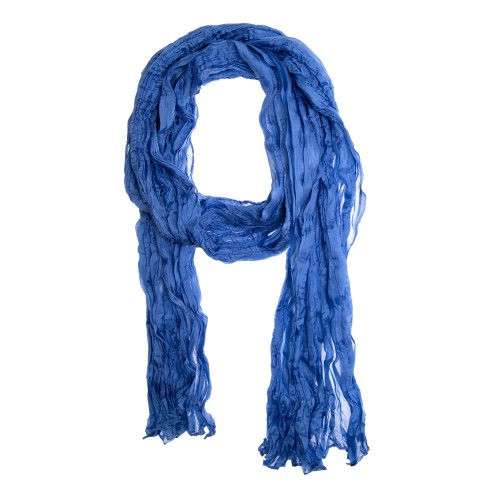 Knitterschal Halstuch Schal XXL blau usambara