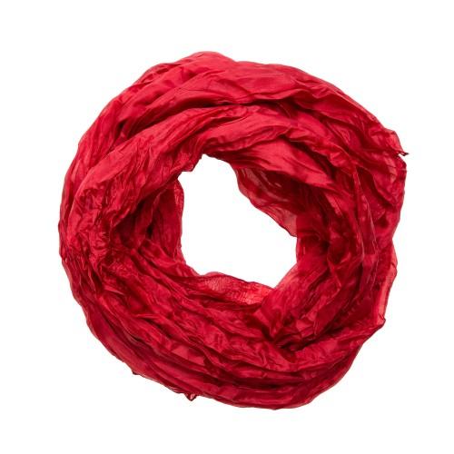 Roter Knitterschal Halstuch Schal XXL Tiefrot