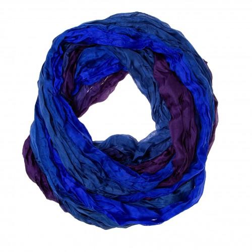 Knitterschal Halstuch Schal XXL Farbverlauf Blau-Violett