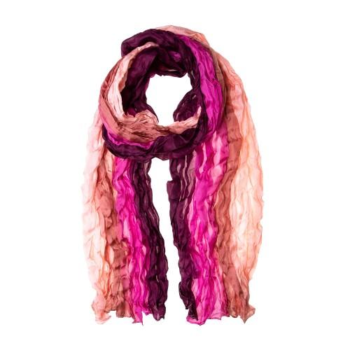 Knitterschal Halstuch Schal XXL Farbverlauf Pink