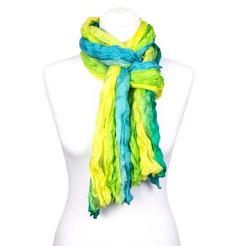 Knitterschal Halstuch Schal XXL Farbverlauf Smaragd