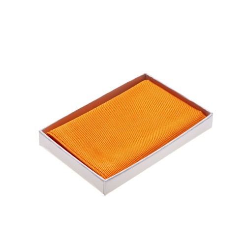 Einstecktuch orange reine Seide Herren Pochette