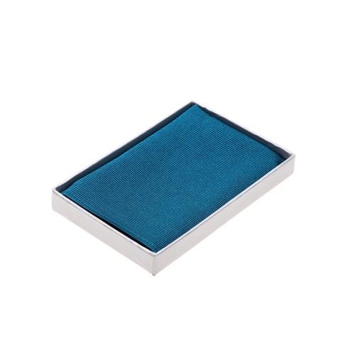 Einstecktuch petrol blaugrün pure Seide