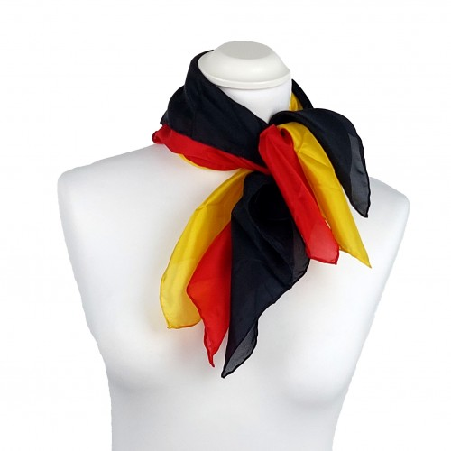 FAN-SET   Deutschland - Nickituch Halstuch einfarbig 55x55 cm