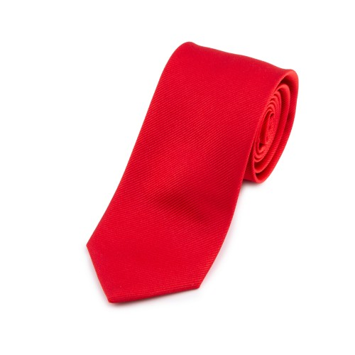Seidenkrawatte rot tiefrot reine Seide unifarben einfarbig