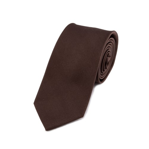 Seidenkrawatte dunkelbraun mokka kaffee reine Seide unifarben einfarbig 150x7,5 cm