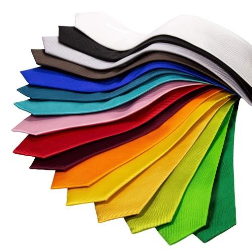 Seidenkrawatte verschiedene Farben reine Seide einfarbig